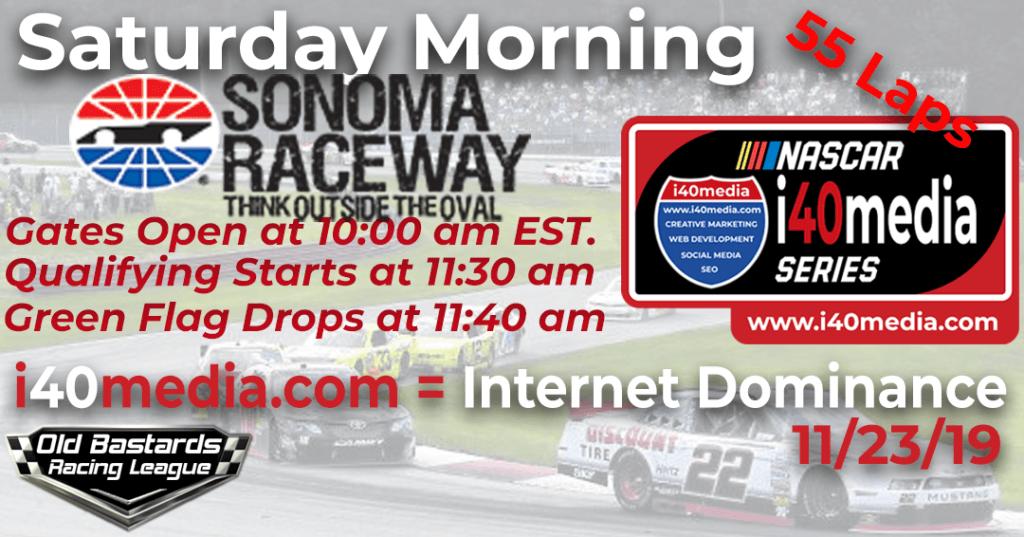 Nascar i40media Media Marketing Series Race at Sonoma - Driver Marketing
