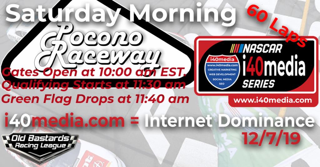 Nascar i40media SEO Series Race at Pocono Raceway - Google SEO