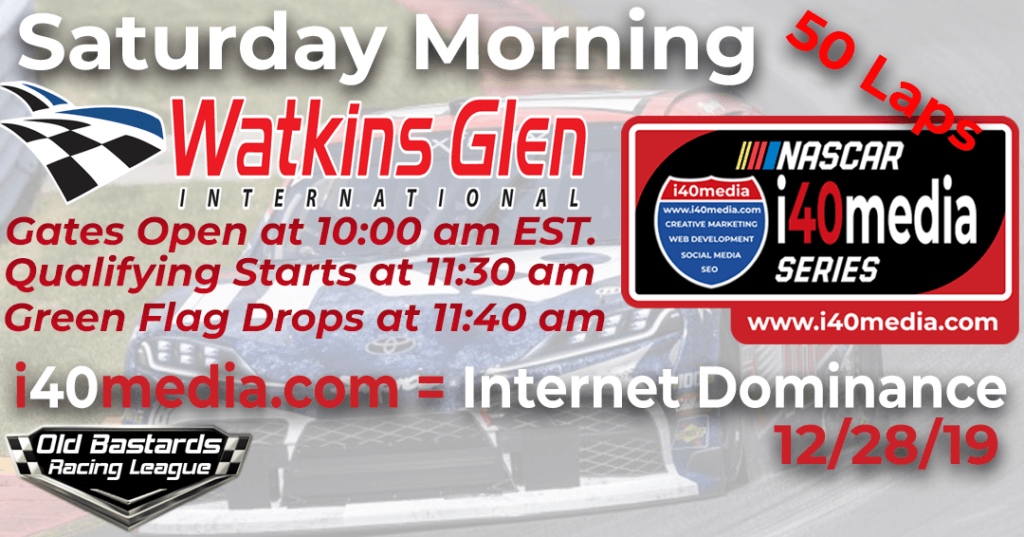 Nascar i40media Content Marketing Series Race at Watkins Glen International.
