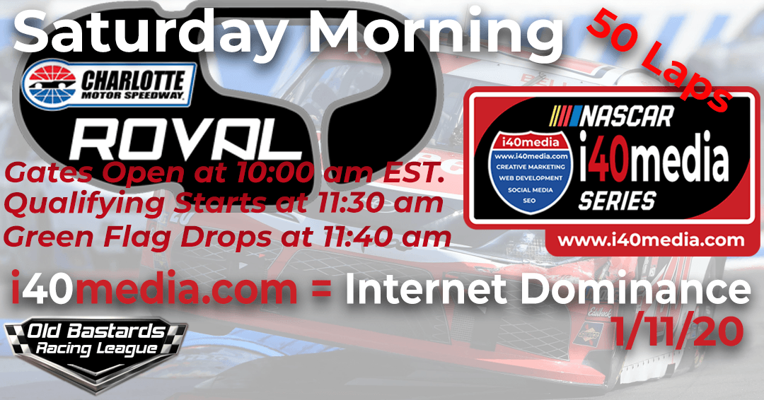 Week #8 i40media Grand Nationals Series Race at Charlotte Roval – 1/11/20 Saturday Mornings