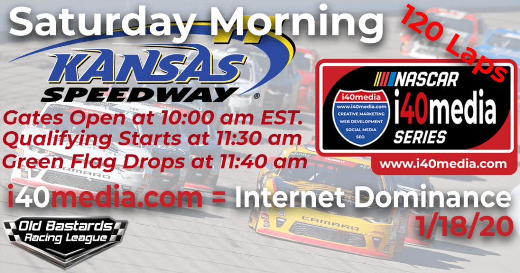Nascar i40media Web Development Series Race at Kansas Speedway